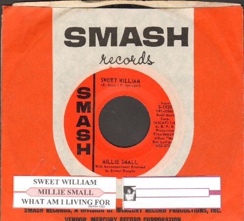 Small, Millie - Sweet William/What Am I Living For (with juke box label RARE Smash company sleeve) - EX8/ - 45 rpm Records