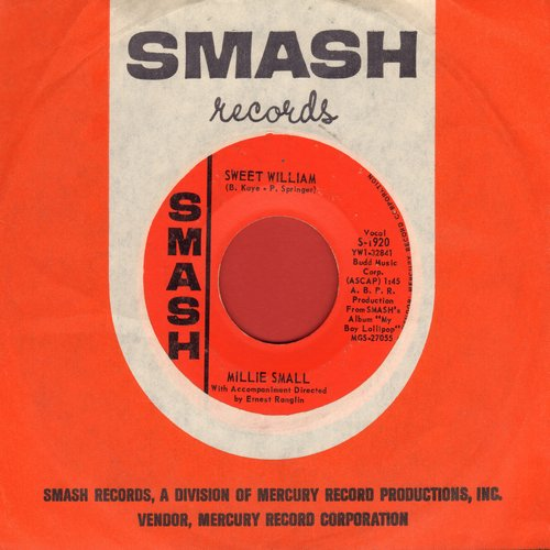 Small, Millie - Sweet William/What Am I Living For (with RARE Smash company sleeve) (bb) - EX8/ - 45 rpm Records