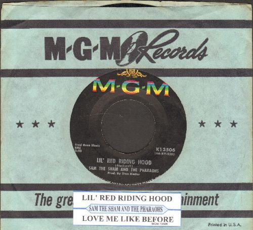 Sam The Sham & The Pharaohs - Lil' Red Riding Hood/Love Me Like Before (with juke box label and MGM company sleeve) - EX8/ - 45 rpm Records