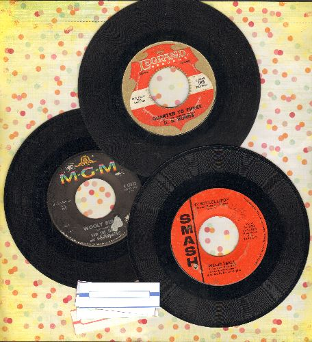 Bonds, Gary U.S., Millie Small, Sam The Sham & The Pharaohs - 1960s Party 3-Pack: Hits include My Boy Lollipop, Quarter To Three and Wooly Bully. Shipped in plain paper sleeves with 4 blank juke box label. GREAT for a 60s Theme Party! - VG7/ - 45 rpm Reco