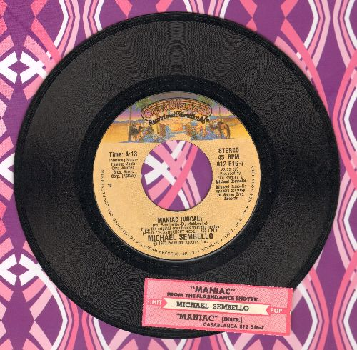 Sembello, Michael - Maniac/Maniac (Instrumental) (from film -Flashdance-)(with juke box label) - NM9/ - 45 rpm Records