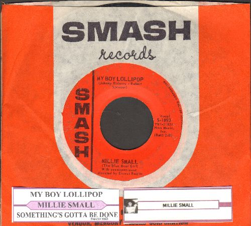 Small, Millie - My Boy Lollipop/Something's Gotta Be Done (with Smash company sleeve and juke box label) - VG7/ - 45 rpm Records