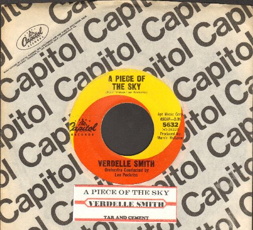 Smith, Verdelle  - A Piece Of The Sky/Tar And Cement (with company sleeve and juke box label) - VG7/ - 45 rpm Records