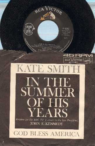 Smith, Kate - God Bless America/In The Summer Of His Years (with picture sleeve) - NM9/VG6 - 45 rpm Records