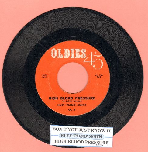 Smith, Huey & His Clowns - High Blood Pressure/Don't You Just Know It (re-issue with juke box label) - EX8/ - 45 rpm Records