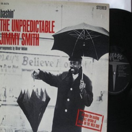 Smith, Jimmy - Bashin': Includes The Jazz Version of Walk On The Wild Side, Ol' Man River, In A Mellotone (Vinyl STEREO LP record, gate-fold cover) - VG7/EX8 - LP Records