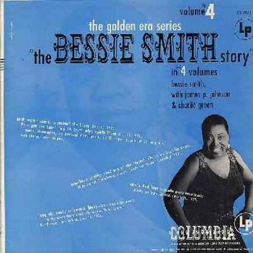 Smith, Bessie - The Bessie Smith Story - Vol. 4: Back Water Blues, He's Got Me Goin!, Blue Spirit Blues, Empty Bed Blues, Back Water Blues (Vinyl MONO LP record, 1960s issue of vintage Jazz recordings) - EX8/EX8 - LP Records