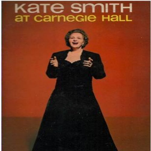 Smith, Kate - At Carnegie Hall: Moon River, How Deep Is The Ocean, I'll Be Seeing You, God Bless America, When The Moon Comes Over The Mountain (Vinyl MONO LP record, DJ advance pressing) - NM9/VG7 - LP Records