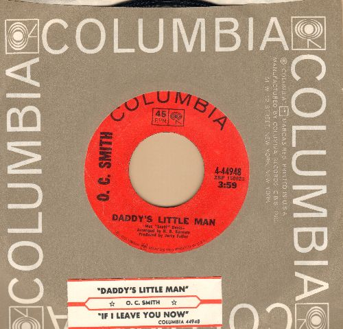 Smith, O. C. - Daddy's Little Man/If I Leave You Now (with Columbia company sleeve and juke box label) - NM9/ - 45 rpm Records