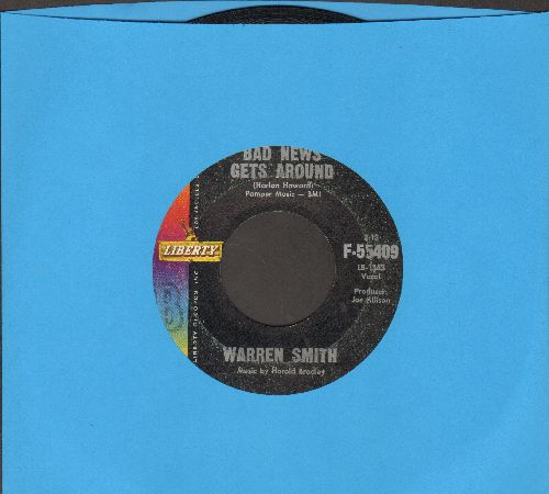 Smith, Warren - Bad News Gets Around/Five Minutes Of The Latest Blues - VG7/ - 45 rpm Records
