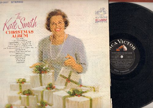 Smith, Kate - The Kate Smith Christmas Album: Silver Bells, Do You Hear What I Hear, The First Noel, Silent Night, Joy To The World, The Christmas Song (Vinyl STEREO LP record) - EX8/VG7 - LP Records