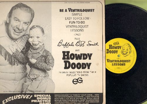 Smith, Buffalo Bob & Howdy Doody - Be A Ventriloquist! Ventriloquist Lessons + Great Selection from The Howdy Doody Show! (vinyl STEREO LP record) - NM9/EX8 - LP Records