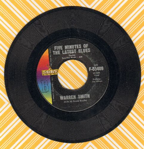Smith, Warren - Five Minutes Of The Latest Blues/Bad News Gets Around - VG7/ - 45 rpm Records