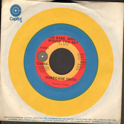 Smith, Hurricane - Oh, Babe, What Would You Say?/Getting To Know You - EX8/ - 45 rpm Records
