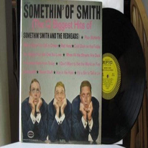Smith, Somethin' & The Redheads - Somethin' Of Smith (The 12 Biggest Hits of Somethin' Smith & The Redheads) - Poor Butterfly, Heartaches, It's A Sin To Tell A Lie, You Always Hurt The One You Love (Vinyl MONO LP record) - EX8/EX8 - LP Records
