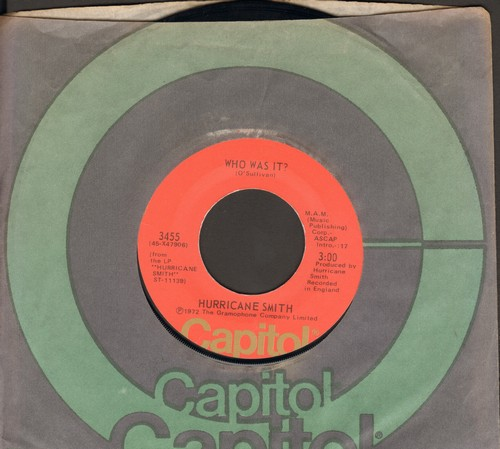 Smith, Hurricane - Who Was It?/Take Suki Home (with Capitol company sleeve) - NM9/ - 45 rpm Records