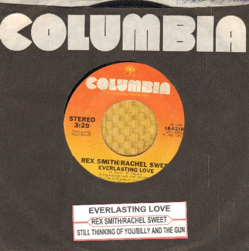 Smith, Rex & Rachel Sweet - Everlasting Love/Still Thinking Of You/Billy And The Gun (3 track 45rpm record with Columbia company sleeve and juke box labe) - EX8/ - 45 rpm Records