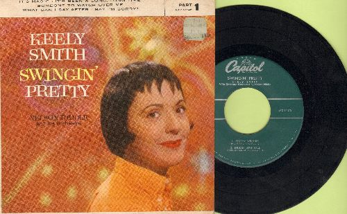 Smith, Keely - Swingin' Pretty: It's Magic/It's Been A Long Long Time/Someone To Watch Over Me/What Can I Say After I Say I'm Sorry (vinyl EP record with picture cover) - VG7/EX8 - 45 rpm Records