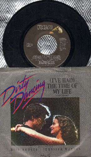 Medley, Bill & Jennifer Warnes - I've Had The Time Of My Life (Oscar Winning Song from film -Dirty Dancing-)/Love Is Strange (by Mickey & Sylvia on flip-side) (with picture sleeve) - EX8/VG7 - 45 rpm Records