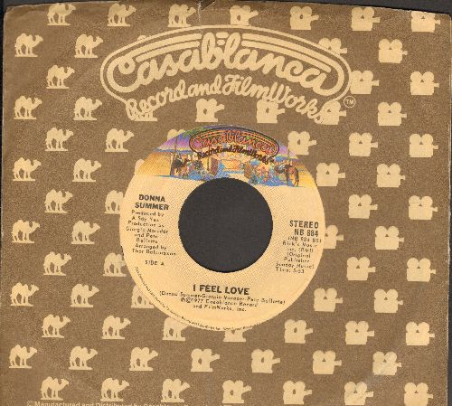 Summer, Donna - I Feel Love/Can't We Just Sit Down (And Talk It Over)(with Casablanca company sleeve) - EX8/ - 45 rpm Records
