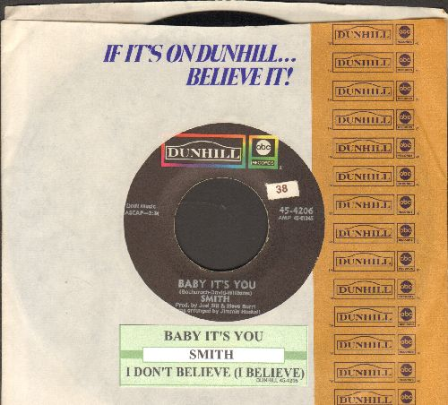 Smith - Baby It's You/I Don't Believe (with juke box label and company sleeve) - EX8/ - 45 rpm Records