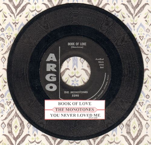 Monotones - Book Of Love/You Never Loved Me (original first issue with juke box label)(ssol) - VG6/ - 45 rpm Records