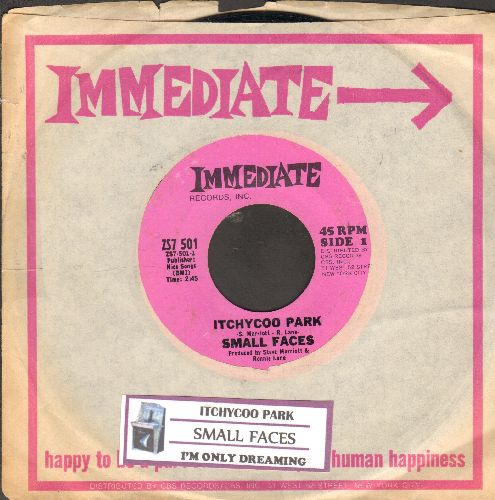 Small Faces - Itchycoo Park (It's All Too Beautiful)/I'm Only Dreaming (Original first issue of Rock Classic with juke box label and RARE Immediate company sleeve) - NM9/ - 45 rpm Records