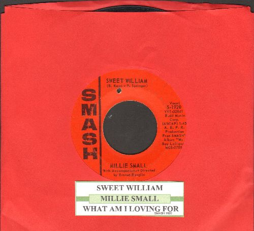 Small, Millie - Sweet William/What Am I Living For (bb) (with juke box label) - VG6/ - 45 rpm Records