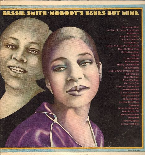 Smith, Bessie - Nobody's Blues But Mine: I Ain't Got Nobody, Gin House Blues, Alexander's Ragtime Band, Florida Bound Blues (2 vinyl LP records, gate-fold cover, re-issue of vintage Jazz recordings) - NM9/NM9 - LP Records