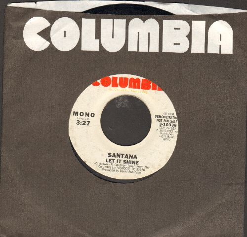 Santana - Let It Shine (double-hit re-issue with Columbia company sleeve) - EX8/ - 45 rpm Records