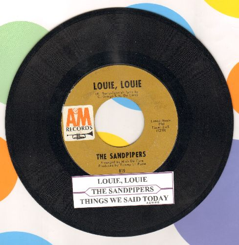 Sandpipers - Louie, Louie/Things We Said Today (with juke box label) - EX8/ - 45 rpm Records