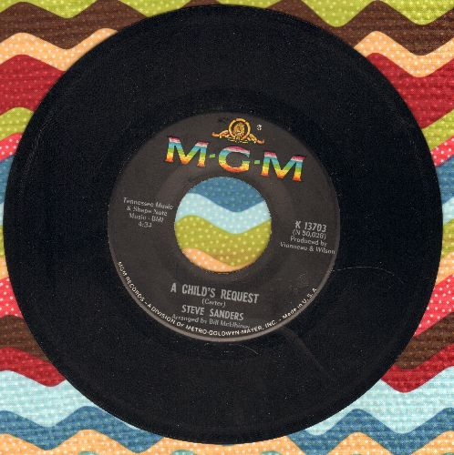 Sanders, Steve - A Child's Request/Lazarus - NM9/ - 45 rpm Records
