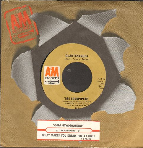 Sandpipers - Guantamera/What Make You Dream, Pretty Girl (with juke box label and company sleeve) - NM9/ - 45 rpm Records
