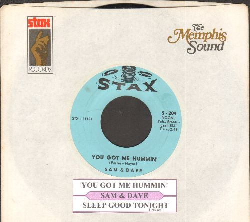 Sam & Dave - You Got Me Hummin'/Sleep Good Night (with juke box label and company sleeve) - NM9/ - 45 rpm Records