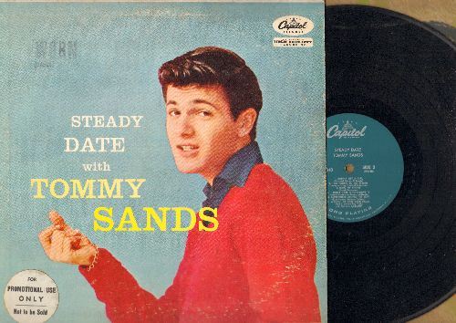 Sands, Tommy - Steady Date With Tommy Sands: Goin' Steady, Too Young, Ring My Phone (Vinyl MONO LP record, turquoise label DJ advance pressing) - VG6/VG6 - LP Records