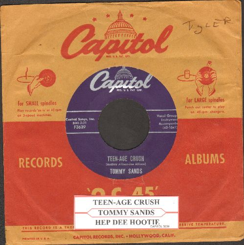 Sands, Tommy - Teen-Age Crush/Hep Dee Hootie (with juke box label and vintage Capitol company sleeve) - NM9/ - 45 rpm Records