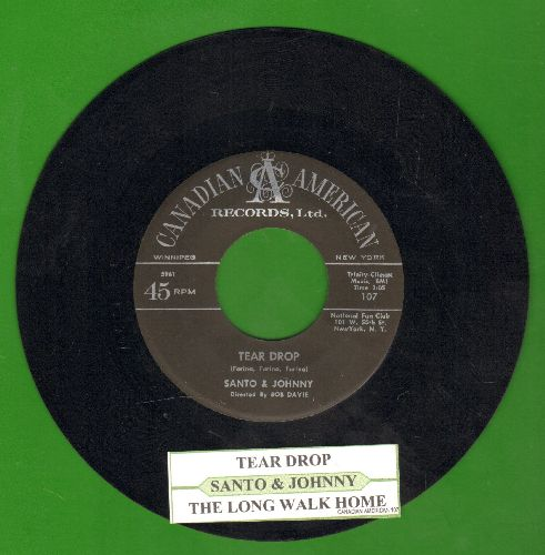 Santo & Johnny - Tear Drop/The Long Walk Home (with juke box label) - NM9/ - 45 rpm Records