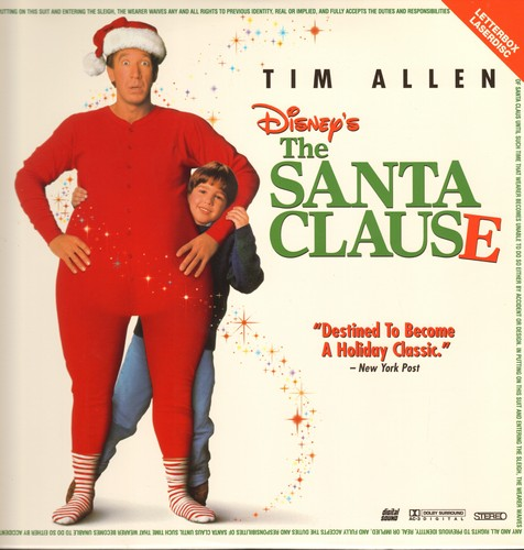 The Santa Clause - The Santa Clause - Letterbox LASERDISC version of the Christmas Classic starring Tim Allen (This is a LASERDISC, not any other kind of media) - M10/NM9 - LaserDiscs