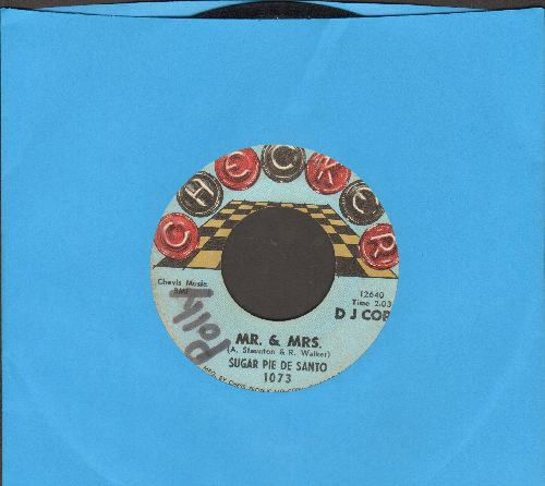 De Santo, Sugar Pie - Mr. & Mrs./Slip-In Mules (No High Heel Sneakers)(wol) - VG7/ - 45 rpm Records