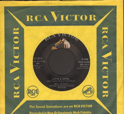 Sedaka, Neil - Little Devil/I Must Be Dreaming (with RCA company sleeve) - EX8/ - 45 rpm Records