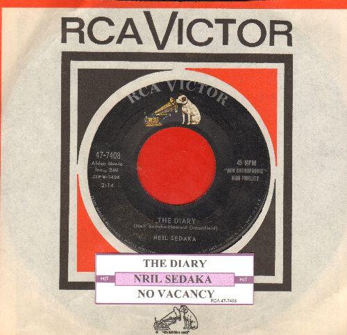 Sedaka, Neil - The Diary/No Vacancy (with juke box label and RCA company sleeve) - EX8/ - 45 rpm Records