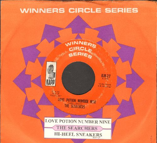 Searchers - Love Potion Number Nine/Hi-Heel Sneakers (early double-hit re-issue with Kapp company sleeve) - VG7/ - 45 rpm Records