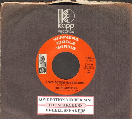 Searchers - Love Potion Number Nine/Hi-Heel Sneakers (early double-hit re-issue with Kapp company sleeve) - EX8/ - 45 rpm Records