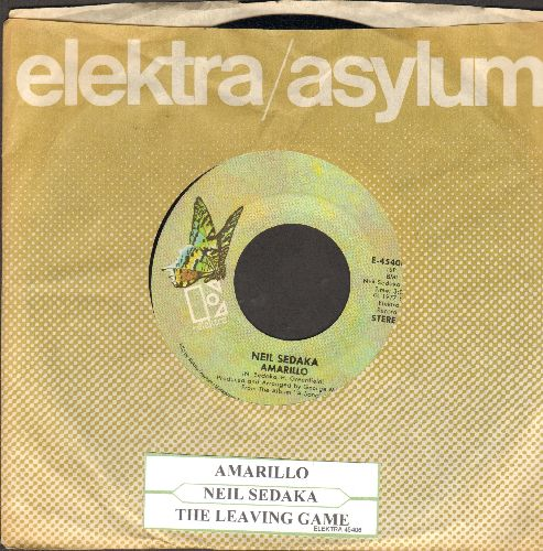 Sedaka, Neil - Amarillo/The Leaving Game (with Elektra company sleeve and juke box label) - NM9/ - 45 rpm Records