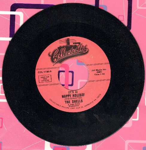 Shells - (It's A) Happy Holiday/Deep In My Heart (double-hit re-issue) - M10/ - 45 rpm Records