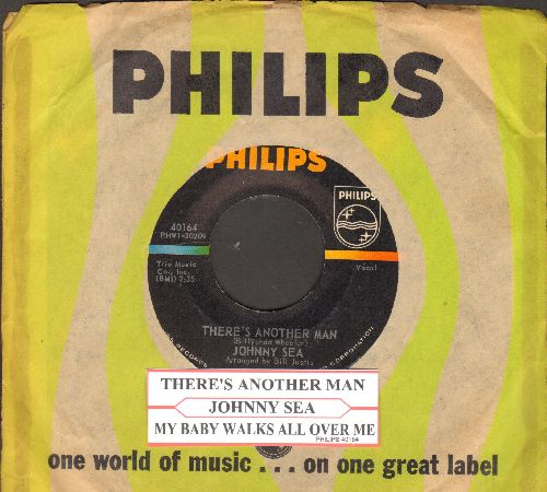 Sea, Johnny - My Baby Walks All Over Me/There's Another Man (Elvis sound-alike!)(with juke box label and company sleeve) - NM9/ - 45 rpm Records
