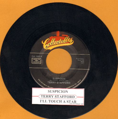 Stafford, Terry - Suspicion/I'll Touch A Star (double-hit re-issue by Elvis Presley Sound-Alike!) (with juke box label) - NM9/ - 45 rpm Records