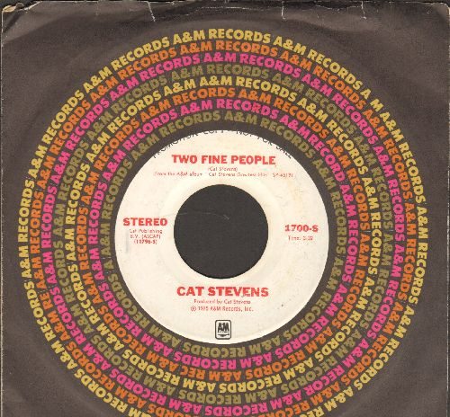 Stevens, Cat - Two Fine People (double-A-sided DJ advance pressing with company sleeve) - NM9/ - 45 rpm Records