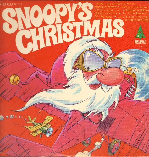 Snoopy's Christmas - Snoopy's Christmas: Jingle The Christmas Mouse, Christmas Candy, Donner & Blitzen, Jack Frost's Christmas (vinyl STEREO LP record) - EX8/EX8 - LP Records