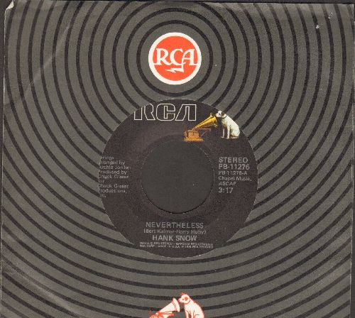 Snow, Hank - Nevertheless/Don't Rock The Boat (with RCA company sleeve) - EX8/ - 45 rpm Records